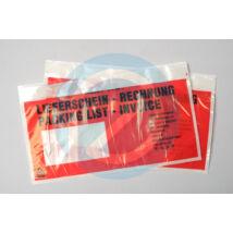 Dokumentum tasak 240x135mm piros
