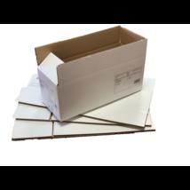 Fehér tetőfenék-lapolt doboz