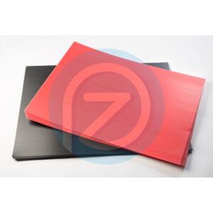 Kartonplast lemez UV piros 800x600mm