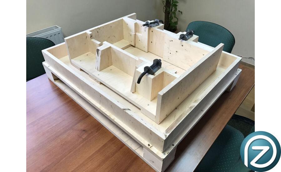 Egyedi fából készült tartóláda